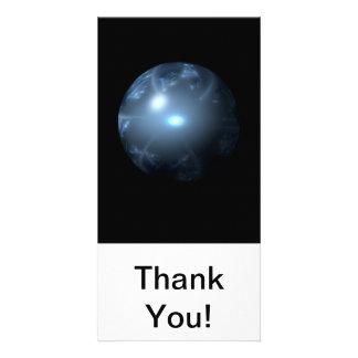 Blue Abstract Globe Photo Greeting Card