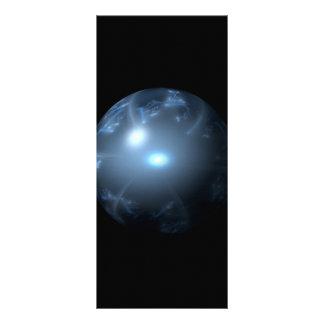 Blue Abstract Globe Rack Card Design