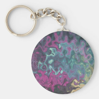 Blue Abstract Goldfish Keychain