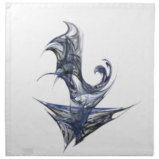 Blue Abstract Graphic Napkin