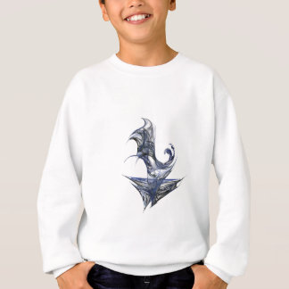 Blue Abstract Graphic Sweatshirt