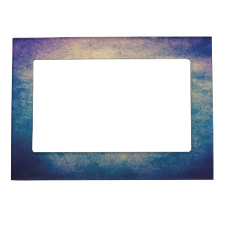 Blue Abstract Grunge Vintage 5x7 Magnetic Frame