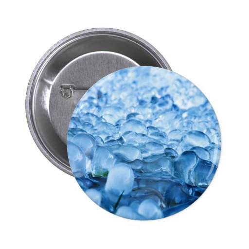 Blue Abstract Ice Crystals Water Drops Buttons