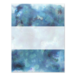 "Blue Abstract. 4.25"" X 5.5"" Invitation Card"