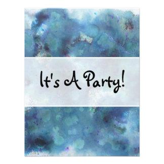 Blue Abstract Custom Invitations