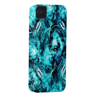 Blue Abstract iPhone 4/4s Mate ID Case iPhone 4 Cases