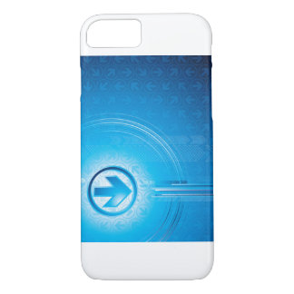 Blue Abstract iPhone 7 Case