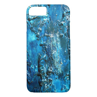 Blue abstract Iphone 7 case 3-D style
