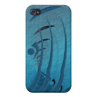 Blue Abstract iPhone 4 Cover