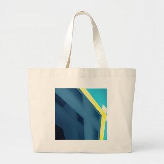 Blue Abstract Jumbo Tote Bag