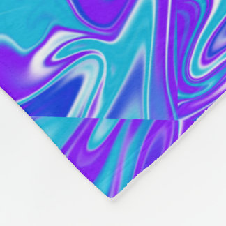 Blue Abstract Marbleized Sky, Large Fleece Blanket