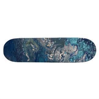 Blue Abstract No.5 Custom Skateboard