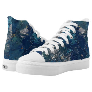 Blue Abstract No.5 High Tops
