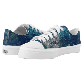 Blue Abstract No.5 Printed Shoes