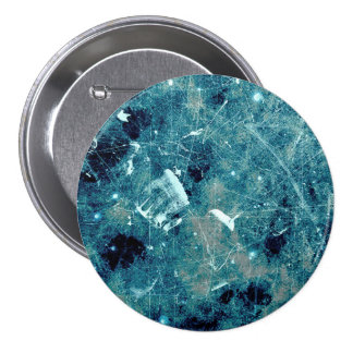 Blue abstract paint grunge style digital art 7.5 cm round badge