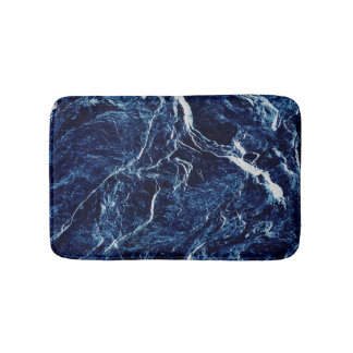 Blue Abstract Pattern Bath Mat