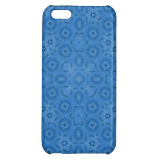 Blue abstract pattern iPhone 5C covers
