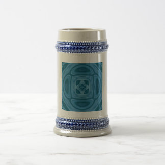 Blue abstract pattern beer steins