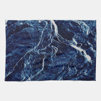 Blue Abstract Pattern Tea Towel