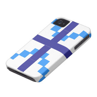 Blue Abstract pattern theme iPhone 4 Case