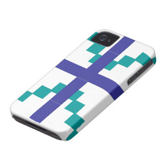 Blue Abstract pattern theme Case-Mate iPhone 4 Case
