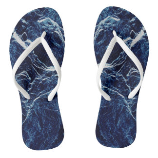 Blue Abstract Pattern Thongs