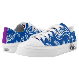 Blue abstract Patterns Low Tops