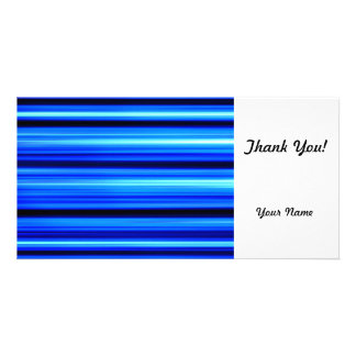 Blue Abstract Customized Photo Card