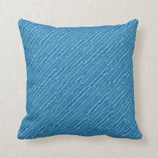 Blue abstract pillow