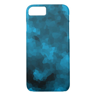 Blue abstract polygonal background iPhone 8/7 case