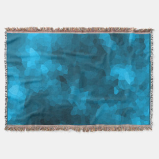 Blue abstract polygonal background throw blanket