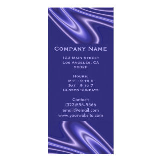 blue abstract customized rack card
