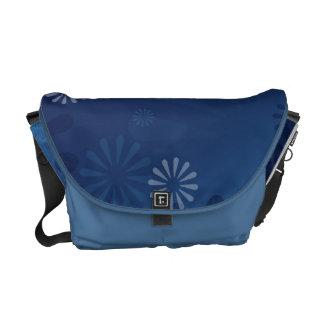 blue abstract Rickshaw Messenger Bag