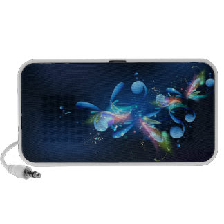 Blue Abstract Laptop Speaker