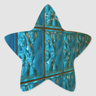 Blue abstract star sticker