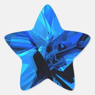 Blue Abstract Star Sticker