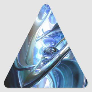 Blue Abstract Sticker