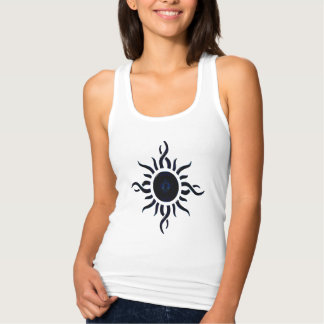 Blue Abstract Sun Graphic Tee Shirts