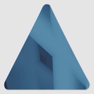 Blue Abstract Triangle Sticker