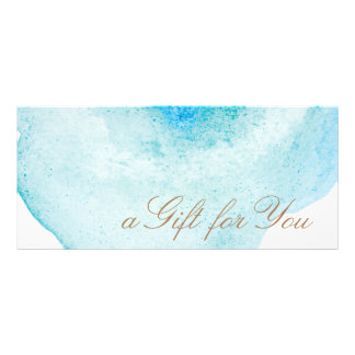 Blue Abstract Watercolor Gift Certificate