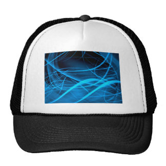 blue abstract wave shiny energy background cap