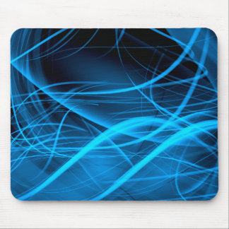 blue abstract wave shiny energy background mousepads