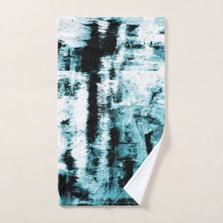 Blue Abstraction Hand Towel