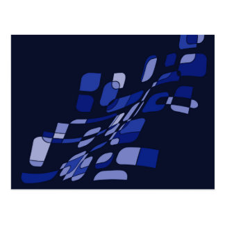 Blue abstraction postcard