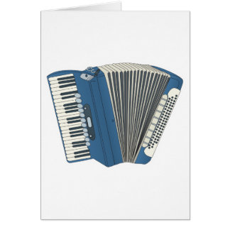 blue accordian card