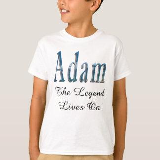 Blue Adam Name The Legend Logo, T-Shirt