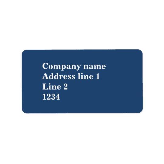 Blue Address Label