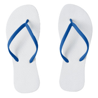 Blue Adult Flip Flops, Slim Straps Thongs