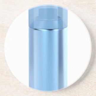 Blue aerosol spray can coaster