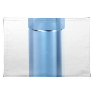 Blue aerosol spray can placemat